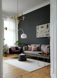 wohnzimmer einrichten vintage wand gestrichen skandinavisch