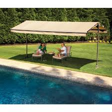 The SunSetter Oasis Freestanding Awning Motorized And Manually ... Home Decor Appealing Patio Awnings Perfect With Retractable Sunsetter Cost Prices Costco Motorized Lawrahetcom Sizes Used Awning Parts Vista Canada Cheap For Sale Sydney Repair Nj Gallery Chrissmith Replacement Fabric Manual Oasis Images Balcy