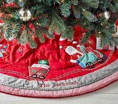 Train Quilted Tree Skirt