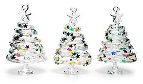 BANBERRY DESIGNS Glass Christmas Tree Ornaments