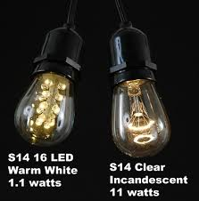 warm white led s14 bulbs with 16 led s novelty lights inc