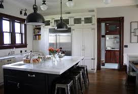 Industrial Farmhouse Decor Kitchen Traditional With Marais Stools Marble Counter Sink