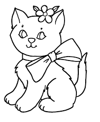 Huge Gift Picture Of A Cat To Color Free Printable Coloring Pages For Kids