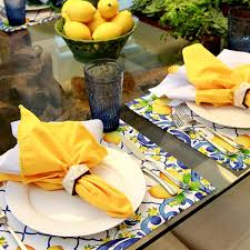 Jogo Americano Limão Siciliano Tablesetting Tablescapes Décor