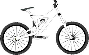 Machovka Bike Downhill Black White Clipartist 555px