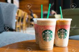 Bangkok In Thailand On March 22 2017 Glass Of Starbuck Coffee Frappuccino Blended Beverages