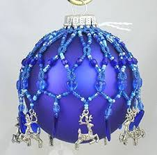 Beaded Christmas Ornaments Diy Glass Tree Baubles Ornament Covers Jewelry Patterns Xmas Crafts Seed Beads