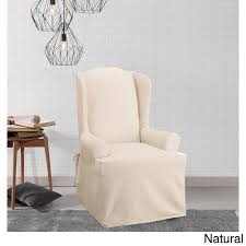 Sure Fit Cotton Duck Wing Chair Slipcover (Natural / Wing Chair ... Sure Fit 2 Piece Stretch Plush Tdye Chair Cover Design Boards Luna Rosendorff Bonzy Floor Foldable Gaming Adjustable 2234w X 57 D 6 H Orange Soft Suede Cream Short Ding How To Setup An Anywhere Pottery Barn Kids Armless Slipper Slipcovers T Patio Fniture Reviews 2016 Best Outdoor Brands Winter Proof Salt Willow Eucalyptus Oak Small Heavyduty Round Table And Set Kobe Bryant Gets Nba 2k17 Legend Edition Lebron James Nba V Basketball Kicks Lp55 Car Seat Battilo Fluffy Faux Fur Sheepskin Rug Pad Home Carpet Mat For Bedroom Sofa Living Room 61 30 In Throw From Garden Univ Of Wildcatskentucky Basketballsugar Skullsbowheartsmicro Fibercar Coversseat Coversgiftsugar Skull2 Seat