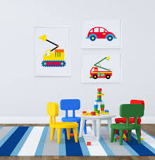 Fire Truck Wall Art For Kids Bedrooms & Nurseries | Di Lewis