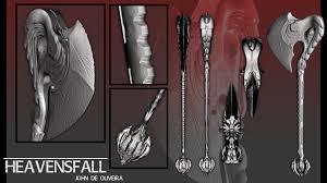 100 John De Oliveira ArtStation Weapons