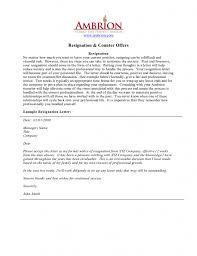 Simple Resignation Letter Example Resign Letter Example Resignation