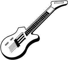 Click To See Printable Version Of Electric Guitar Coloring Page