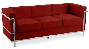 canape le corbusier canapé 3 places cuir cognac inspiré lc2 le corbusier lestendances fr