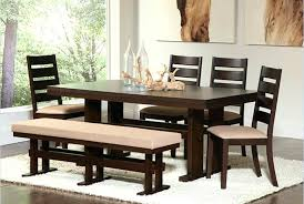 Black Dining Table With Bench Room Set Seating Within Tables Design 1