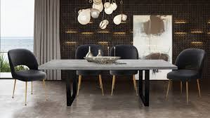 Urban Light Concrete Rectangular Dining Room Set With Swell Chair From TOV Furniture