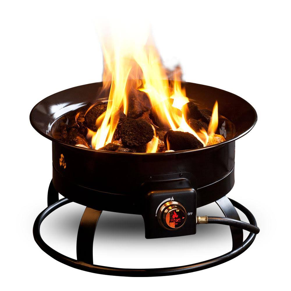 Outland Firebowl Fire Pit Steel Portable Propane - Black