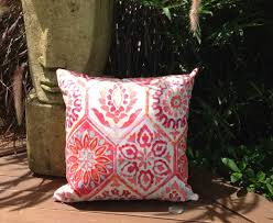 Moroccan Outdoor Cushions Berry Tile Indoor Cushion Pillow Caribbean Blue Bohemian