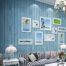 mediterranen stil blau weiß holz panel 3d vlies tapete rollen wohnzimmer schlafzimmer hintergrund wand abdeckt papier de parede