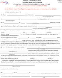 download kentucky affidavit supporting repossession and