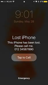 Lost iPhone if