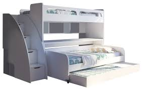 Bel Mondo Twin Bunk Bed With Sofa Table And Trundle
