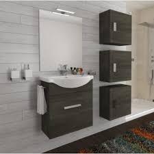 badezimmer badmöbel 55 cm aus eiche dunkel holz mit schublade und keramik waschtisch dunkle eiche standard 55 cm