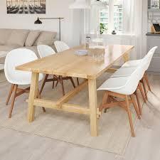 möckelby fanbyn tisch und 6 stühle eiche weiß 235x100 cm
