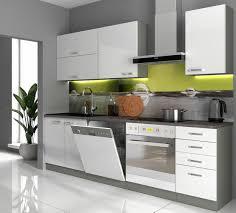 küche basic i 240 cm küchenzeile hochglanz weiß küchenblock einbauküche