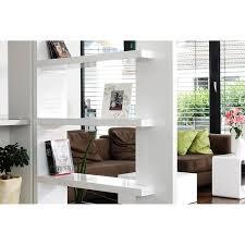 wohnzimmer raumteiler regal weiß hochglanz b t h 128 30 180cm