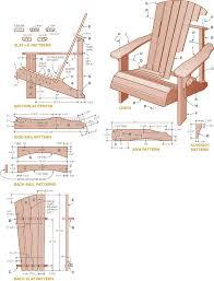 adirondack chair design pdf plans diy free download footstool