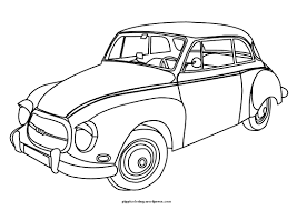 Cars New Vintage Car Coloring Pages