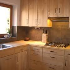 massivholzküche in birke mit holz arbeitsplatte henche
