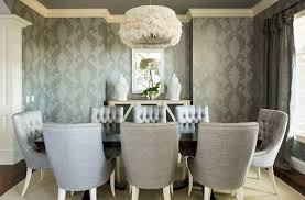 Dining Rooms Wallpaper In Gray Adds Pattern To The Exquisite Room