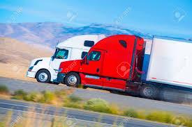 100 Trucking Usa Two Speeding Semi Trucks On The Nevada Highway USA