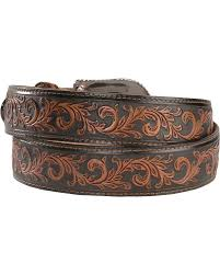 tony lama scottsdale classic tooled western belt sheplers