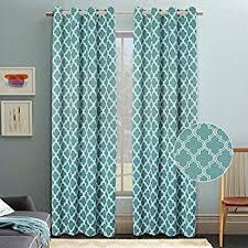 Moroccan Tile Curtain Panels by Amazon Com Quatrefoil Linen Curtains Lattice Moroccan Tile