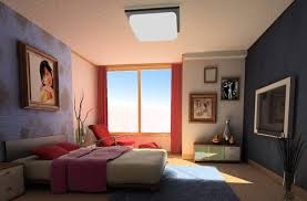 Master Bedroom Wall Decor Displaying With Cute Pink Curtain And Cool Ceiling Lamps Above