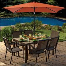 Solar Lighted Offset Patio Umbrella by Rectangular Patio Umbrella With Solar Lights Home Outdoor Decoration