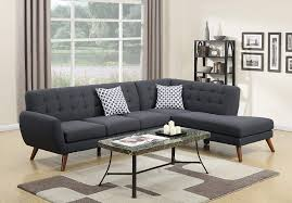 100 Sofa Modern Madison Retro Sectional Ash Black