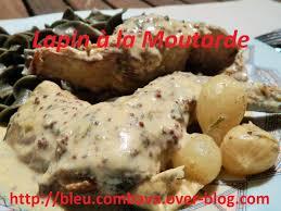 lapin cuisiné lapin à la moutarde de dudemaine ma cuisine bleu combava