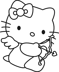 Hello Kitty Cupid Coloring Page