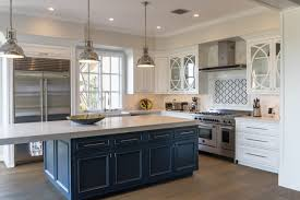 Custom Painted Transitional Kitchen Cabinets