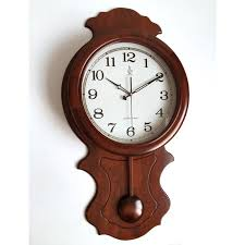 Fine Decoration Wooden Wall Clocks High Grade Large Clock Pendulum Living
