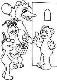 Sesame Street Birthday Coloring Pages Printable Free