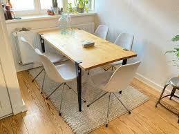 4 esszimmer stühle weiß grau metall beine bequem loft vintage