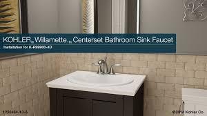Install Overmount Bathroom Sink by Installation Willamette Centerset Bathroom Sink Faucet Youtube