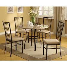 darell faux marble top 5 piece dining set walmart com