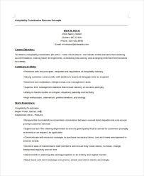 Hospitality Curriculum Vitae Templates