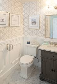 San Diego Recessed Toilet Paper Bathroom Traditional With Framed Art Liner Tiles White Wainscoting