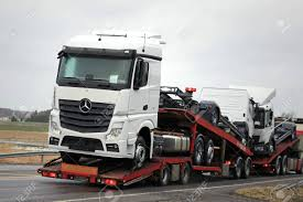100 Benz Trucks SALO FINLAND JANUARY 30 2016 New Mercedes Are Stock